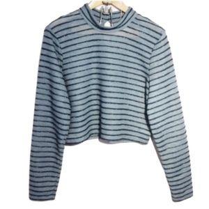 Wild Fable | iridescent stripe Crop Top XXL